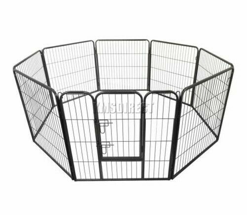 FoxHunter Heavy Duty 8 sided Pet Play Pen Dog Puppy Cage Crate Training Run Meta