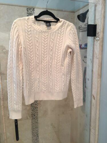 Avorio New Cashmere Medium Theory M Manuela 100 Cable Sweater Knit CwFA6qtw