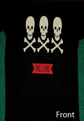 The Melvins Babydoll Skulls Crossbones Juniors Shirt NEW S M L