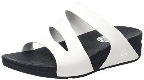 094766cfbb99 FitFlop Superjelly Twist Sandals 557-024 White Rubber Slip on Slide Medium  Women Whites 10 for sale online