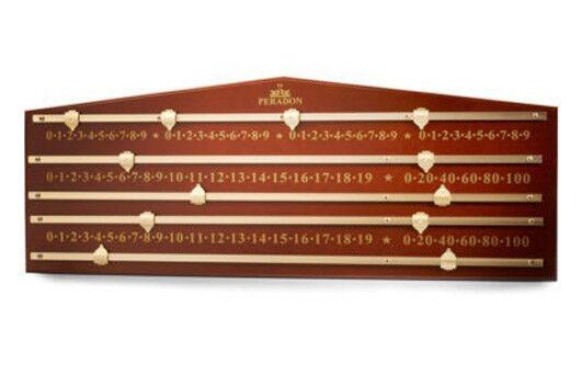 Peradon 4 PLAYER caoba de Colors Snooker Tablero Puntos S5333