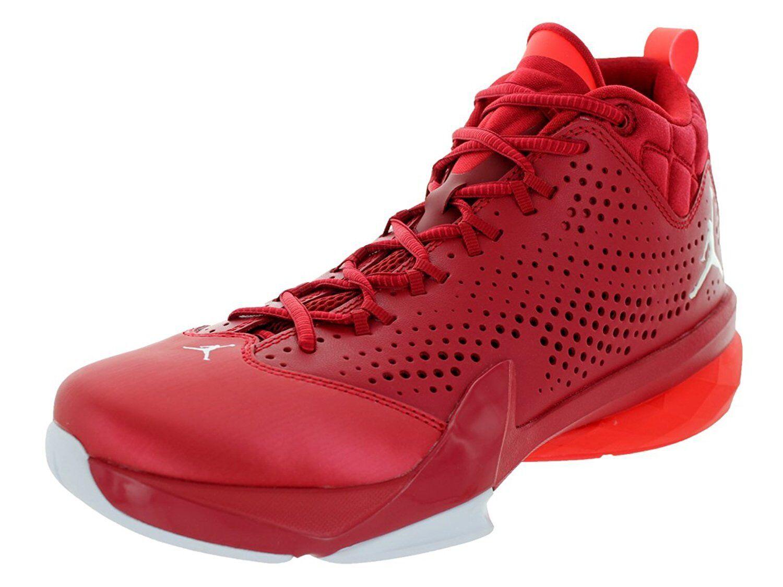 Men's Jordan Flight Time 14.5 Basketball Shoes, 654272 623 Size 11.5 Gym Red/Whi