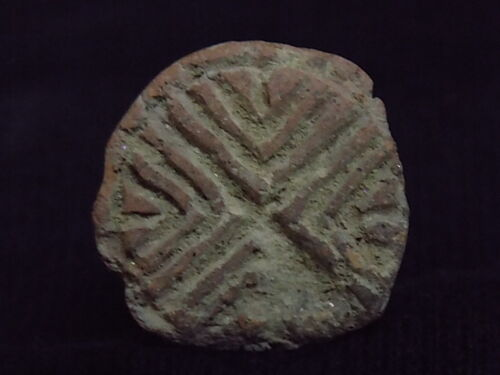 Antiquities Ancient Teracotta 2 Sided Seal Indus Valley 2000 Bc #sg8697