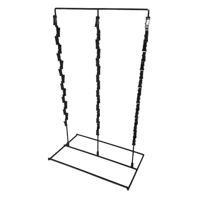 3 Strip 36 Clip Snack Rack Counter Top Display For Potato Chip Bags Black