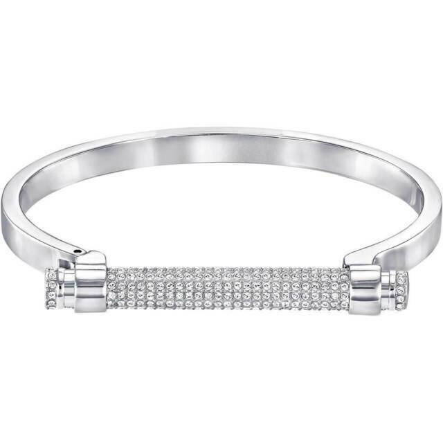 Authentic Swarovski Silver Medium Friend Bangle Bracelet 5216925 Tags