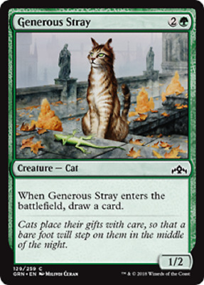 4X NM Generous Stray Guilds of Ravnica MTG Magic the Gathering