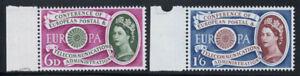 Grossbritannien-1960-Mi-341-342-Postfrisch-100-Europa-CEPT-Koenigin-Elizabeth