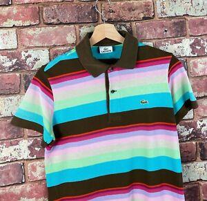 Details about Womens Lacoste Rainbow Polo Shirt Size 2 UK size Medium Original : PS299