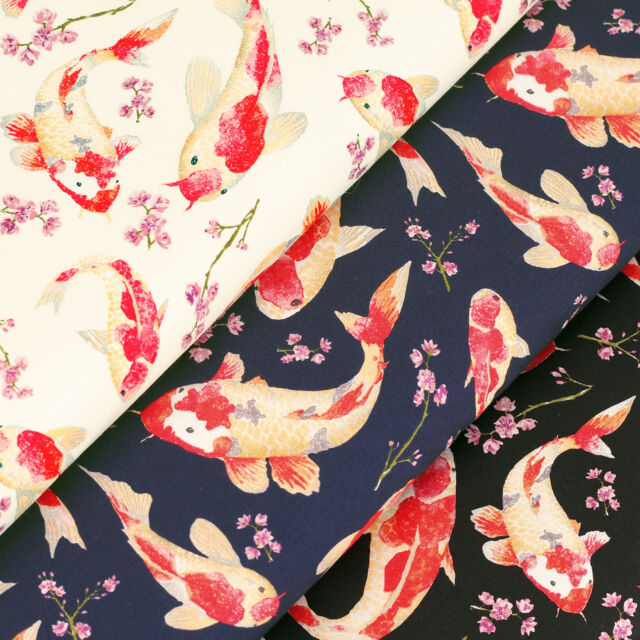 Cotton Fabric per Fat Quarters Fish & Flower Dress Quilting Patchwork Crafts VK2