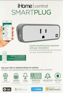 #139N  NEW iHome Wi-Fi Control SmartPlug for IOS and Android. Smart plug.