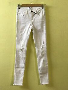 a9480de8c72 Frame Denim Women Le Skinny De Jeanne Ripped Jeans LSJRRE403 /White ...