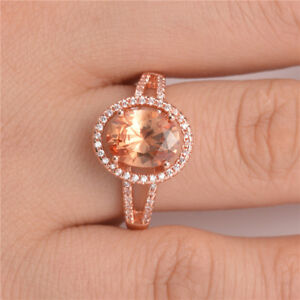 Gorgeous-Wedding-Rings-for-Women-Rose-Gold-Filled-Jewelry-Crystal-Ring-Size-6-10