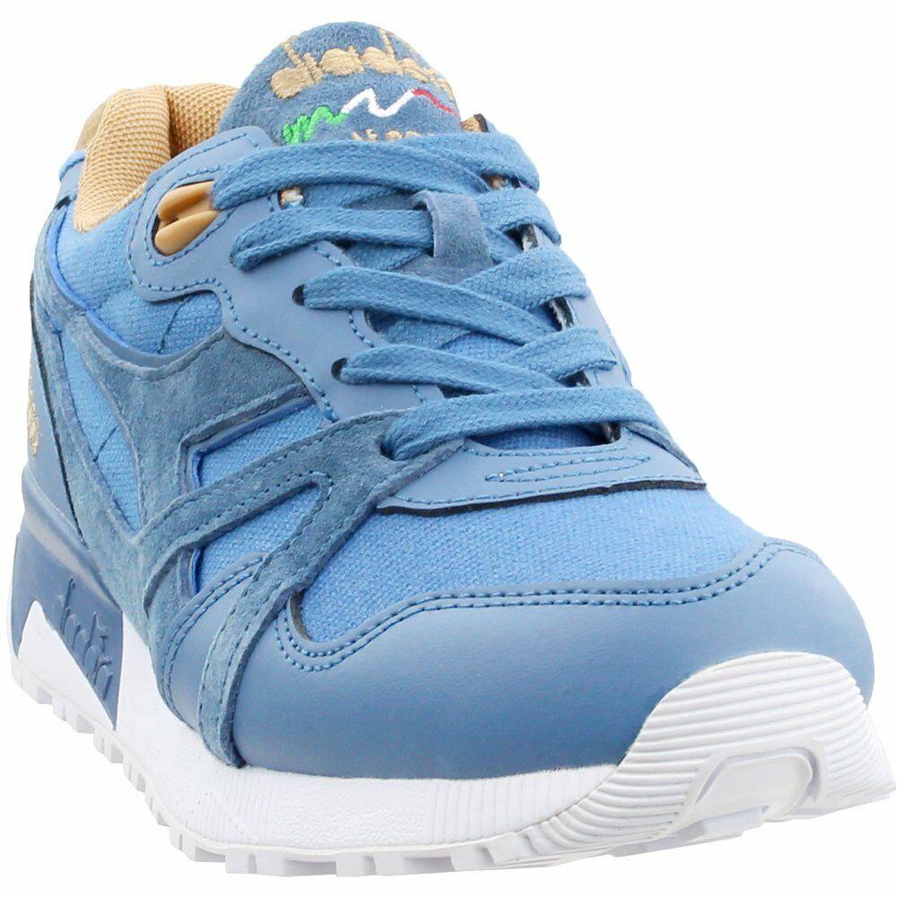 Zapatillas De Ante De Lona Diadora N9000-Azul-Para Hombre
