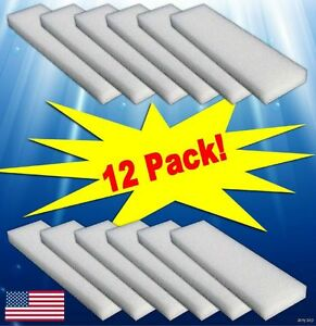 12-Foam-Filter-Pads-For-Fluval-204-205-206-304-305-306-Canister-Filters