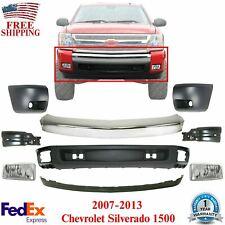 Front Chrome Bumper Steel Valanceends Fog For 2007 2013 Chevy Silverado 1500 Fits 2013 Silverado 1500