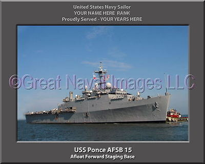SignMission Proudly Served On USS SHADWELL LSD 15 Plastic License Plate Frame