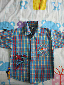 Boy-Spider-Man-2-Spiderman-2-Short-Sleeves-Collared-Shirt-5-6yo-1-pcs