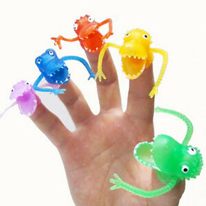 10X-Set-Fingerpuppen-Plastikdinosaurier-Finger-Spielzeug-Mini-Gashapon-Kind-HV