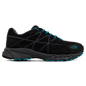 The North Face Storm Gore-Tex Mens Outdoor Walking Hiking Shoe Black/Blue