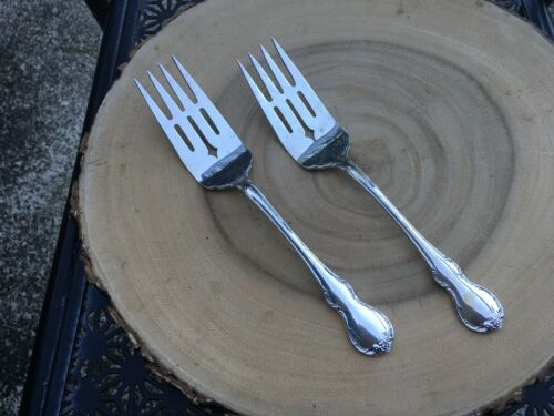 """8 3//8/"""" No Mono 1 Towle French Provincial Sterling Silver Serving Forks"""