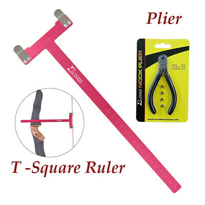 Shooting T Bow Square Tool Nocking Points and Bow Plier Archery Accessories