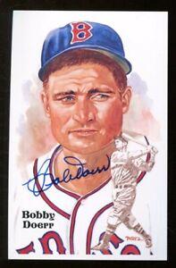 Bobby Doerr Signed '87 Perez-Steele HOF Postcard 3x5 Autographed Red Sox 56624
