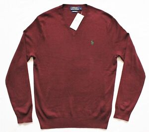 Image is loading Mens-Polo-Ralph-Lauren-Pima-Cotton-Sweater-Jumper-