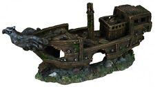 Fish Tank Aquarium Big Sunken Ship Shipwreck Decor Ornament Decoration - 32 cm