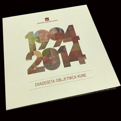 UNC 2004 /& 2014 COMM In folder 10 20 Kuna Croatia Set 2 PCS P-43 44