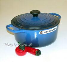 Le Creuset Signature 5 ½ QT Lapis Blue French Round Dutch Oven -26cm - 5.5 Quart