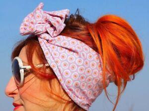 Fascia-per-capelli-modello-swing-era-fantasia-rosa-boogie-woogie-lindy-hop