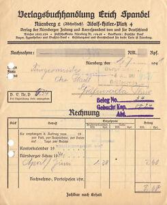 Rechnung-Erich-Spandel-Verlagsbuchhandlung-Nuernberg-1-7-41