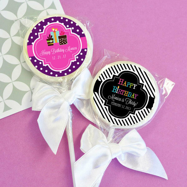 48 Birthday Lollipops Personalized Lollipop Party Favors