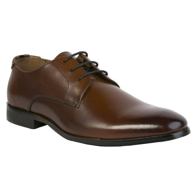 New Mens Peter Werth braun Curtis Plain Toe Leather schuhe Lace Up