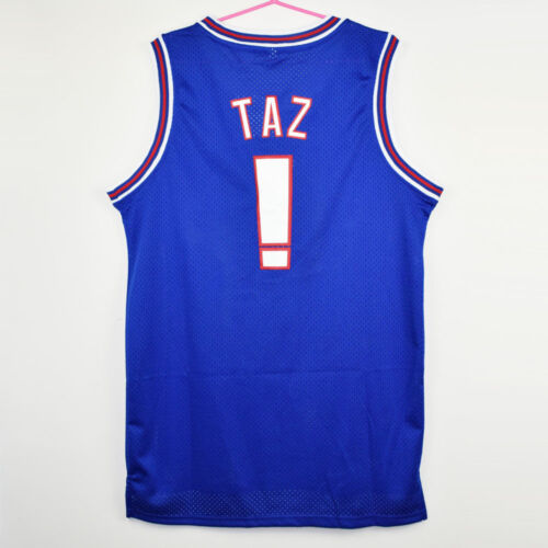 Space Jam Jersey Tune Squad Blue TAZ  Movie Basketball Size Shirt New