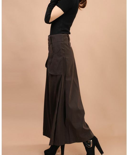 Womens Cotton Blend Wide Leg High-waisted Harem Pants Loose Trousers 3color Size