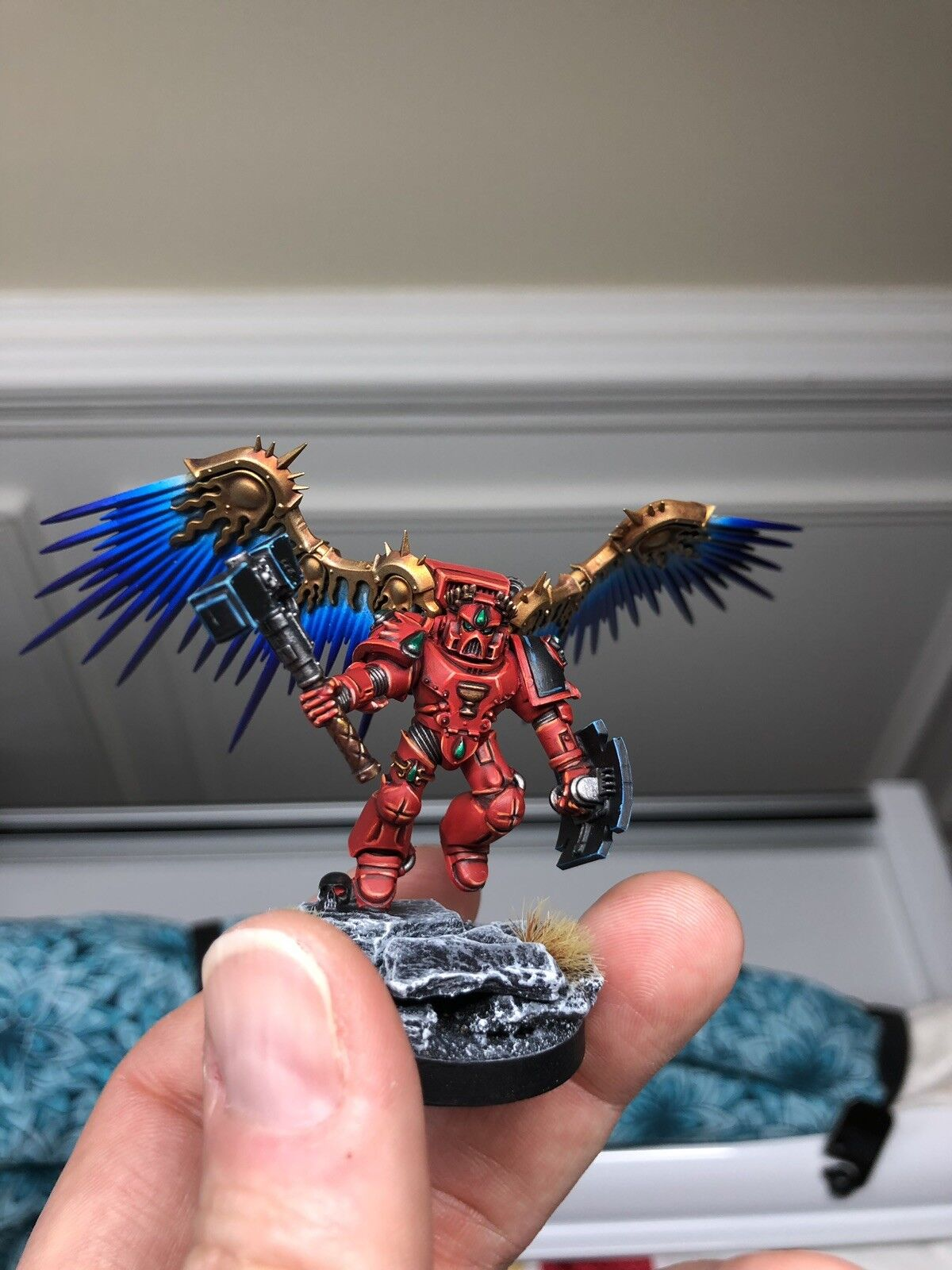 Warhammer 40K Blood Angels Captain Slam Slamguinius Painted Commission  lavoro.  Sito ufficiale