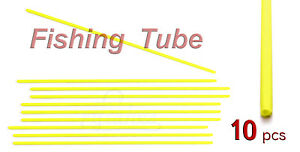 10pcs-Yellow-Fishing-Rig-Hard-Tubing-Straight-Anti-tangle-terminal-tackle
