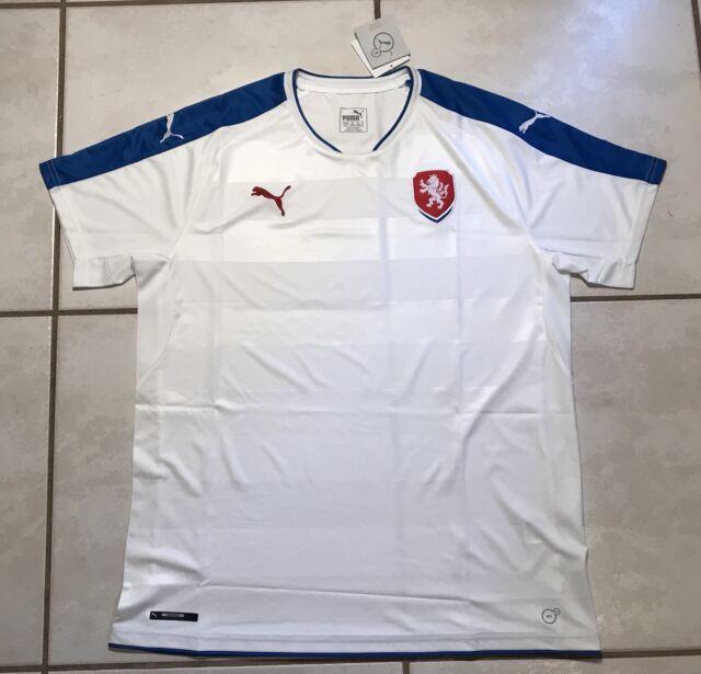 556535755 NWT PUMA Czech Republic National Team AWAY Soccer Jersey Men s XL MSRP  90