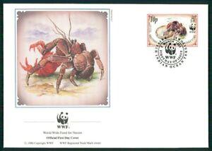 British Territory Bijoux-fdc 1993 Wwf Faune Palmendieb Crabe Coconut Crab Em27-afficher Le Titre D'origine Vente De Fin D'AnnéE