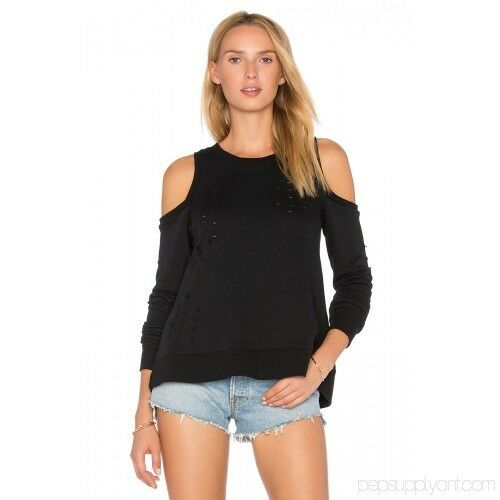 Central Park West  Los Los Los Feliz Cold Shoulder Sweatshirt Sz S 3fa7c1