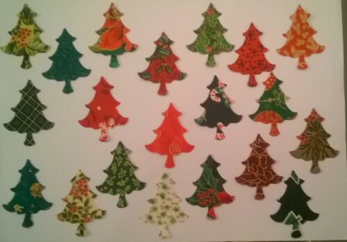 Petite Christmas Trees fabric Pack remnants patchwork bundle 100/%cotton