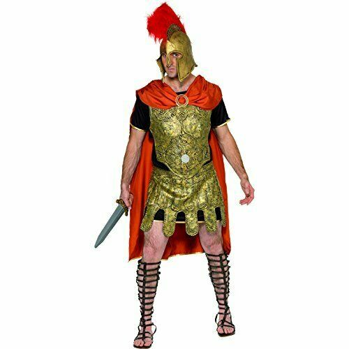 Roman Soldier Tunic Costume, Gold, Cape, Tunic and Armour, Breastpl.. COST-M NEW