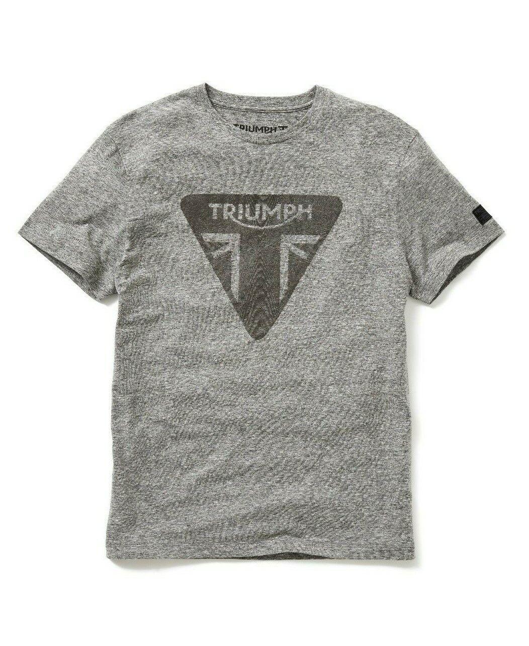 Triumph Motorcycles Roaring Tee Mens Grey Logo T-Shirt NEW MTSS19302