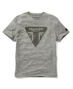 Triumph-Motorcycles-Roaring-Tee-Mens-Grey-Logo-T-Shirt-NEW-MTSS19302