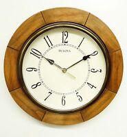 bulova wall clock sandhill c4254 12 round wall clock wit