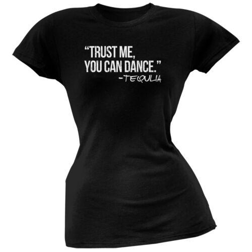 Trust Me Cinco de Mayo You Can Dance Tequila Black Juniors Soft T-Shirt