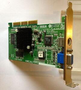 CARTE-GRAPHIQUE-PC-AGP-GRAPHIC-CARD-NVIDIA-VANTA-TNT2-M64-TESTEE-100-OK