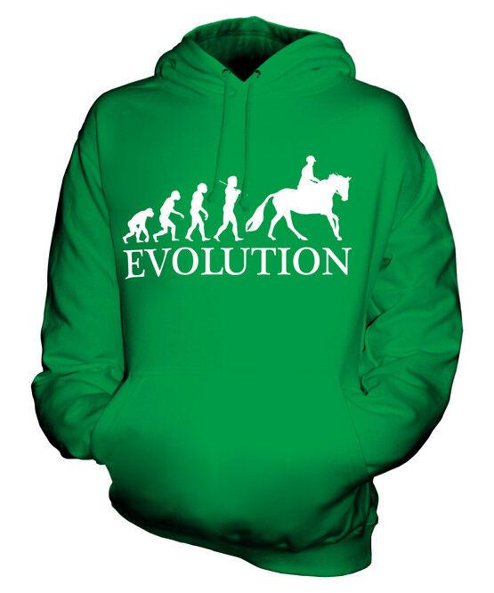 EQUESTRIAN EVOLUTION OF MAN UNISEX HOODIE  Herren Damenschuhe LADIES GIFT HORSE RIDING