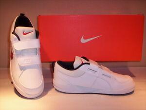 d3ad1b50b434f Chaussures de sport baskets Nike Pico 4 garçon fille cuir blanc 32 ...